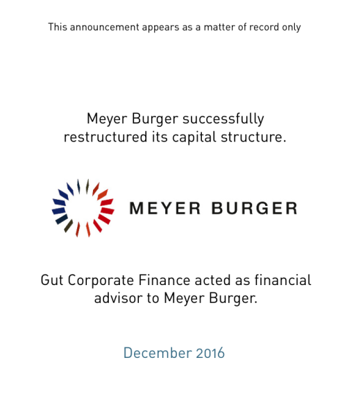 Successful capital restructuring of Meyer Burger