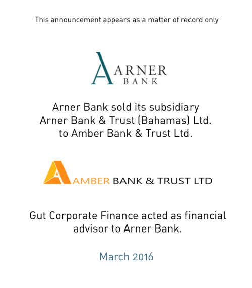 Arner Bank sold its subsidiary AB&T