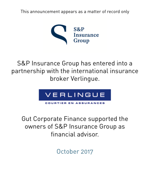 S&P Insurance Group has entered into a partnership